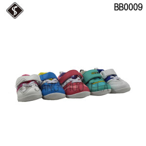 Leather Upper Babies and Infant Toddler Shoes with High Quality pictures & photos