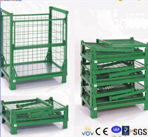 Warehouse Foldable Sheet Metal Wire Mesh Box pictures & photos