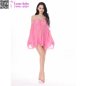 Hot Sale Transparent Nightwear Sleepwear Sexy Lingerie for Fat Women L28220-6 pictures & photos