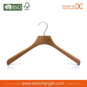 Eisho Antique Style Custom Wooden Clothes Hanger for Coat pictures & photos