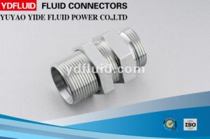 Bulkhead Fittings Carbon Steel Hydraulic Bulkhead Fitting pictures & photos