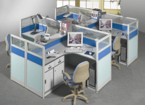 Classic Design Combined Office Workstation with High Partition pictures & photos