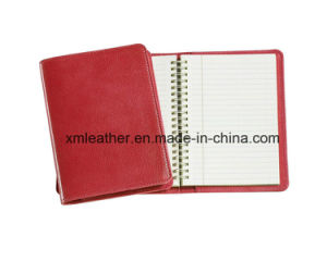 Leather Cover Spiral Notebook Journal for Office pictures & photos