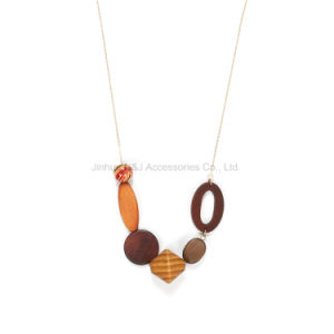 Wood Stone Gold Color Pendant Necklaces Mother Gift Chain pictures & photos