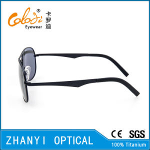 New Arrival Titanium Sun Glasses for Driving with Polaroid Lense (T3026-C1) pictures & photos