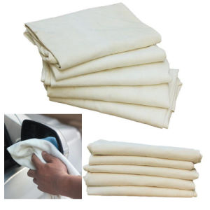 100% Pure Natural Deerskin Suede Fabric Cleaning Cloth Chamois Leather Car Washing Cloth 60*90cm Large Sheepskin Towel pictures & photos