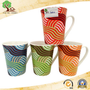 New Bone China Ceramic Mug with Stripe Line pictures & photos