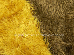 100% Acrylic Feather Yarn Winter Warm Yellow/Brown Knitted Neck Scarf pictures & photos