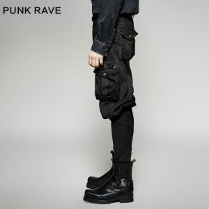 K-265 Punk Rave New Style Exquisite Small Bottom Man Motocross Trousers pictures & photos