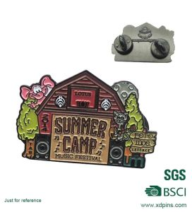 BSCI Factory Iron Stamping Soft Enamel Pin Badge for Club pictures & photos