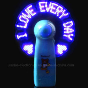 Summer Promotional LED Mini Message Fan with Logo Printed (3509) pictures & photos