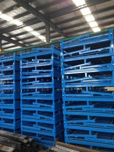Mesh Box Wire Cage Metal Bin Storage Container pictures & photos