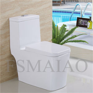 Sanitary Ware Bathroom Plumber Siphonic One Piece Toilet (8103) pictures & photos