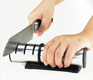 Household 3 Stage Carbon Steel Kitchen Knife Sharpener pictures & photos