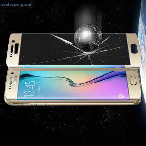 Manufacturer Colorful Full Cover Tempered Glass for S6 Edge
