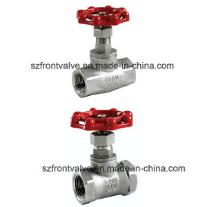 Investment Casting/Precision Casting Ss Screwed Globe Valves pictures & photos