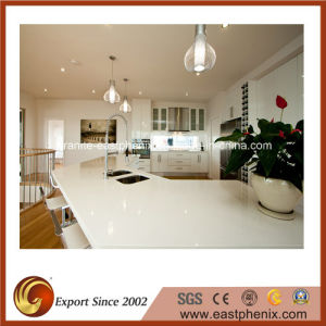 Polished Engineered Artificial Quartz Countertop for Kitchen pictures & photos