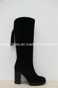 Sexy Comfort High Heels Leather Ladies Boots pictures & photos