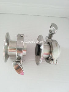 Sanitary Stainless Steel Air Purge Check Valve Quick Connect Plug pictures & photos