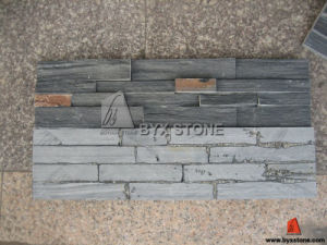 Natural Black Slate Culture Stone for Interior Wall pictures & photos