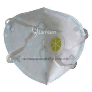 Blue Nonwoven Face Mask with White Dots Pattern and Valve pictures & photos