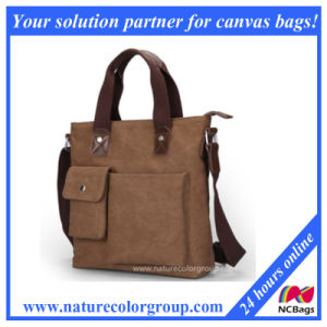 Man Fashion Canvas Handbag Laptop Bag for Business pictures & photos