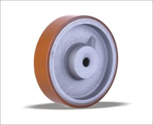 High Quality Heavy Duty 200mm PU Wheel pictures & photos