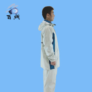 Fluorescence Nylon Rainwear with Reflective Tape pictures & photos