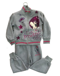 Fashion Girl Fleece Suit in Children Clothing Sport Wear (SWG-118)
