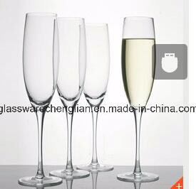 Hande Made Crystal Clear Champagne Glass (B-CP025) pictures & photos
