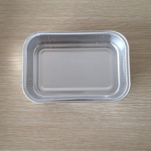 Food Grade Coated with Lid for Aviation Foil Bento Box pictures & photos
