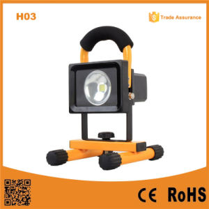 H03 Waterproof 10W Rechargeable LED Flood Light pictures & photos