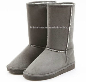 Latest Injection Boots High-Cut Comfortable Snow Boots Winter Boots Stock Shoes (FF328-1) pictures & photos