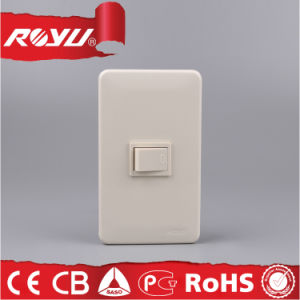 Colourful Three Gang British Standard Lighting Switch, 250V Wall Switch pictures & photos