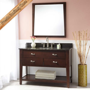 Fed-340 Natural Granite Top Modern 30inch Width Solid Wood Bathroom Vanity pictures & photos