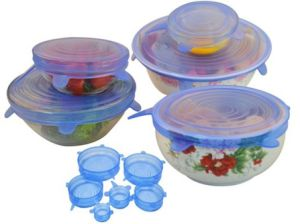 FDA Approved Silicone Strech Lids for Containers, Cups, Mugs, Pans pictures & photos