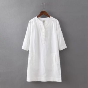 Oversized Ladies Shirt in Bamboo Material (OEM) pictures & photos
