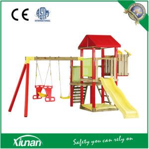 Tsp02 Outdoor Playground Wooden Swing Set Fort and Fortress pictures & photos