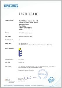 3/8f Straight Valve Thermostatic Radiator Valve Body with En215 Certificate (IDC-V22) pictures & photos