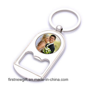 Promotional Gift Souvenir Photo Printing Logo Keychain Bottle Opener (F5038) pictures & photos