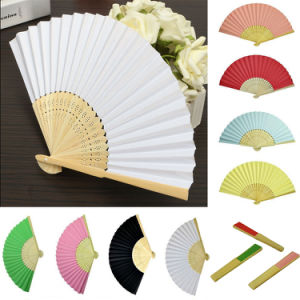 17 Color Chinese Folding Bamboo Fan Retro Hand Paper Fans Wedding Dancing Decor pictures & photos
