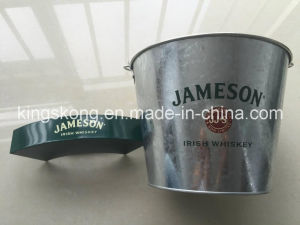 Galvanised Beer Bucket High Quality Galvanized Ice Beer Tin Bucket with Cup Hold pictures & photos