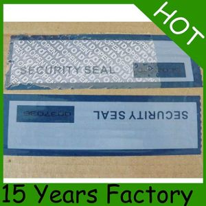 Free Sample Premium Tamper Evident Security Tape pictures & photos