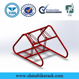 2016 Simple Type Double Decker Bicycle Rack pictures & photos