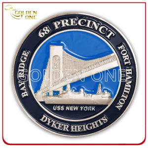 Custom Embossed Nickel Plated Souvenir Coin pictures & photos