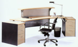 Traditional Office Wooden Small Cheap Reception Desk (LT-E401) pictures & photos