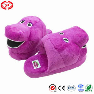 Barney Purple Classical Fashion Plush Warm Slipper Shoe Toy pictures & photos