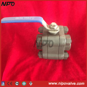 Forged Steel 3-PCS Thread NPT Floating Ball Valve pictures & photos
