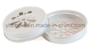 G70 CT White Daisy Mason Lid Unlined, Screw Cap, Daisy Mason Jar Lid pictures & photos
