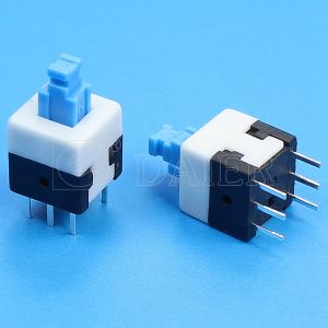 Dpdt Latching Power Switch Push Switch (KFC8X8-A) pictures & photos